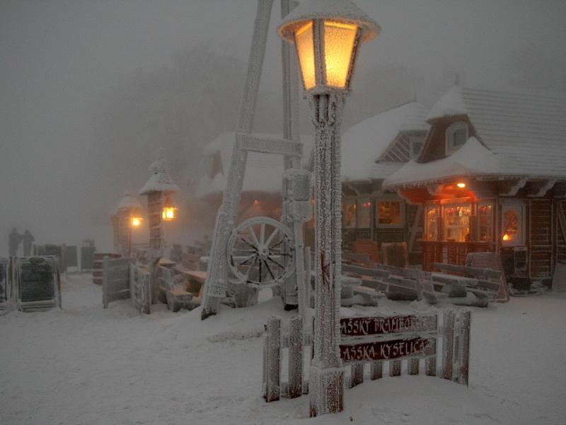 místa k připojení v zimě