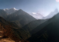 Everest a Lhotse od Namche